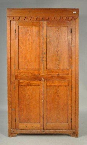 170: Rare Carolina Yellow Pine Corner Cupboard
