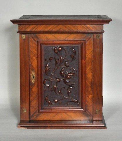 178: Carved Oak Hanging Cabinet, 19th C.