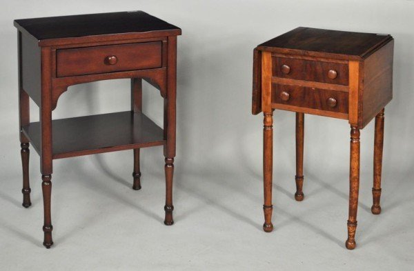 184: Sheraton Two Drawer Drop Leaf Work Table