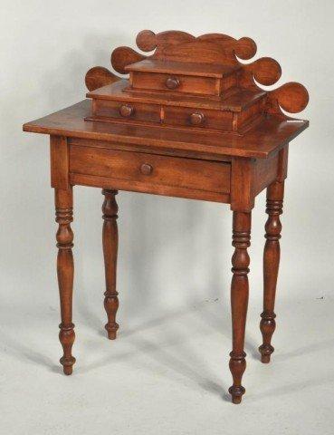 190: Folk Art Country Sheraton Side Table