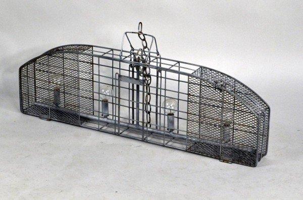 191: Modernist Cage Form Hanging Light