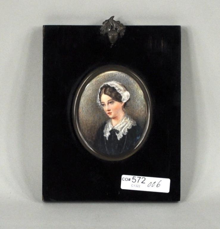 1: Framed Miniature on Ivory, Florence Nightingale