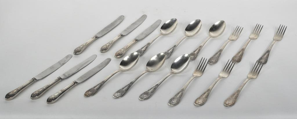 4: Group of Russian Silver Flatware