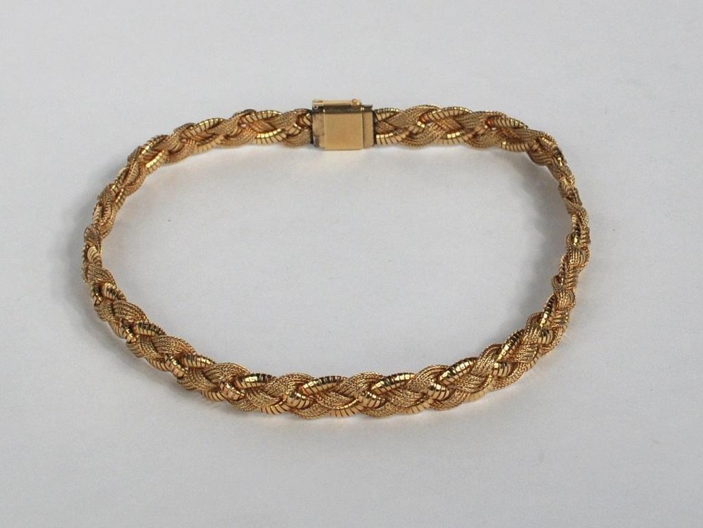 5: 14K Braid Form Necklace Signed Forstner