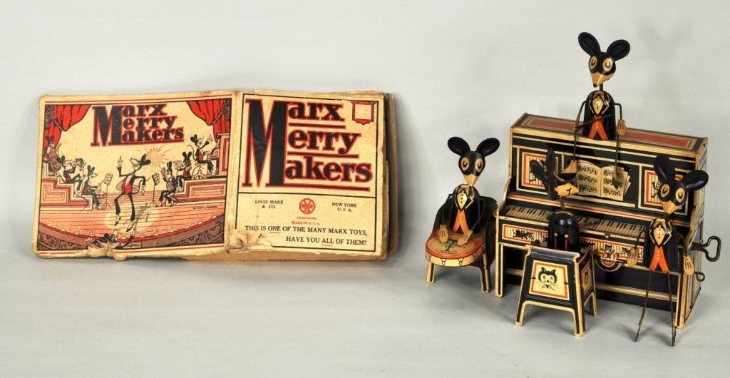 12: Louis Marx Merry Makers Mouse Band Toy