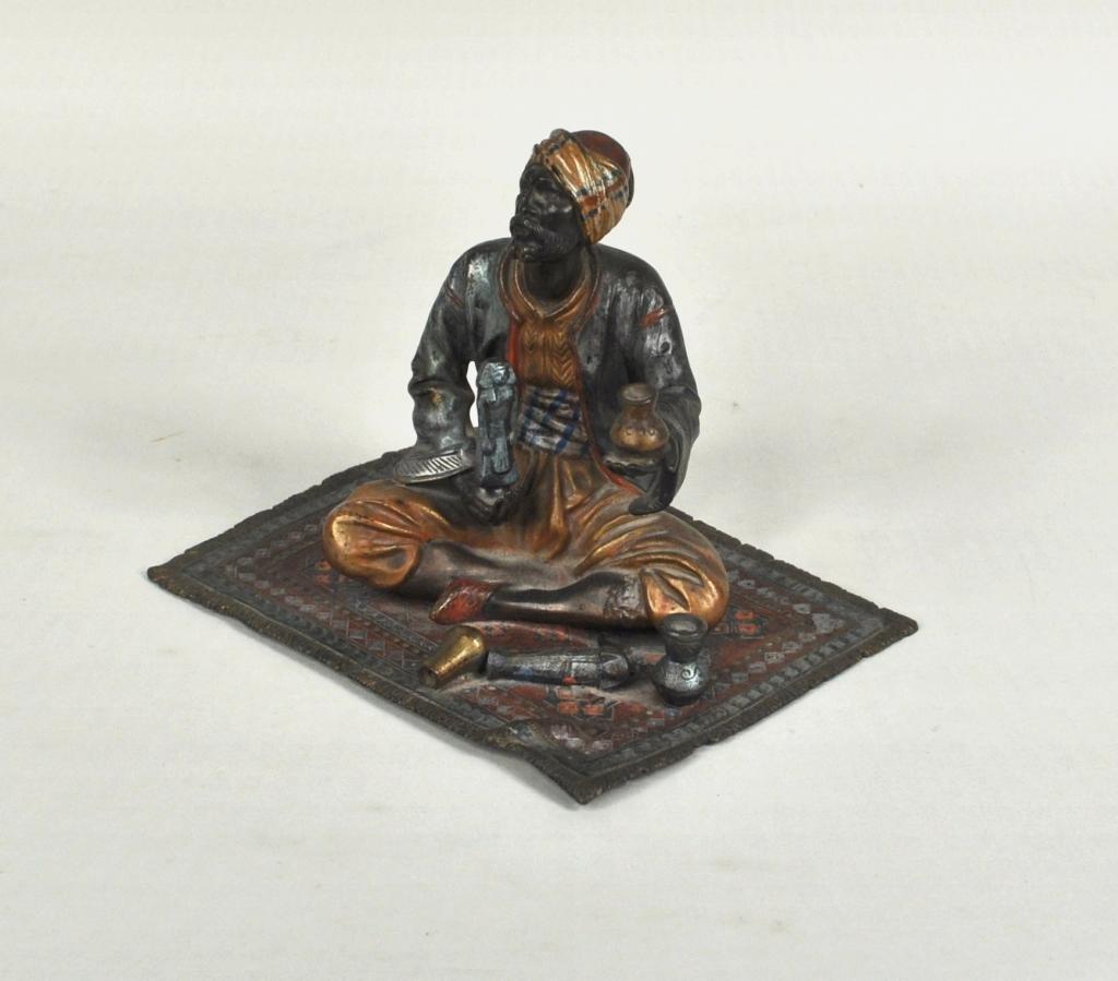16: F. Bergman Cold Painted Austrian Bronze, Merchant