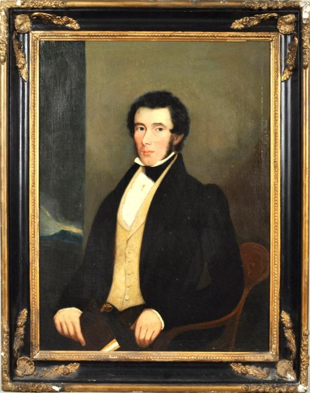 20: Attributed to J.S. Blunt, Portrait of Gentleman