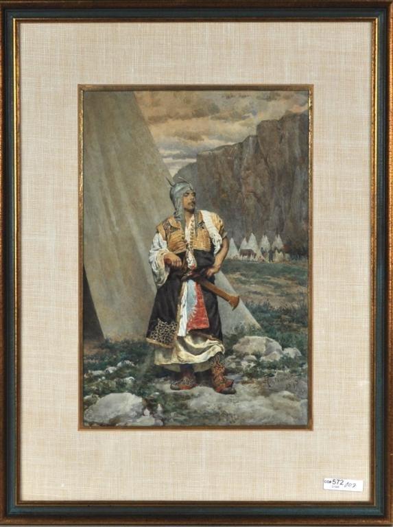 22: Francesco Coleman, Framed Portrait Ottoman Soldier