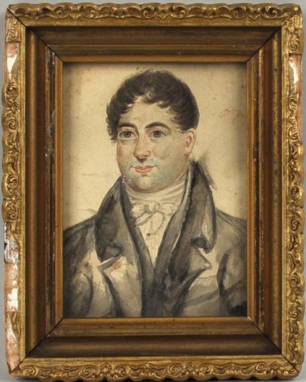 29: Small Watercolor Portrait of Gentleman