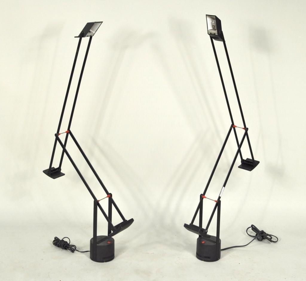 "37: Two Tizio ""Plus"" Modern Table Lamps"