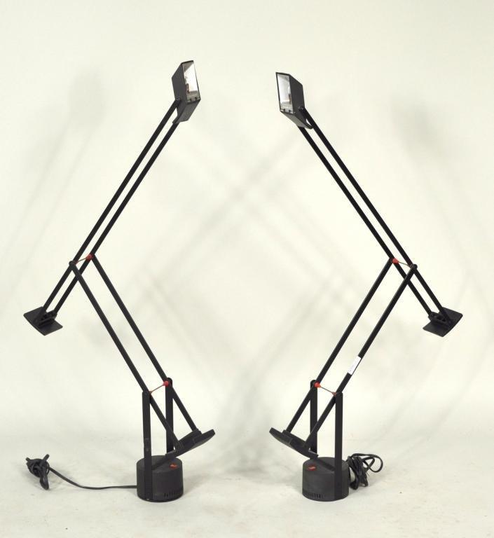 "43: Two Tizio ""Plus"" Modern Table Lamps"