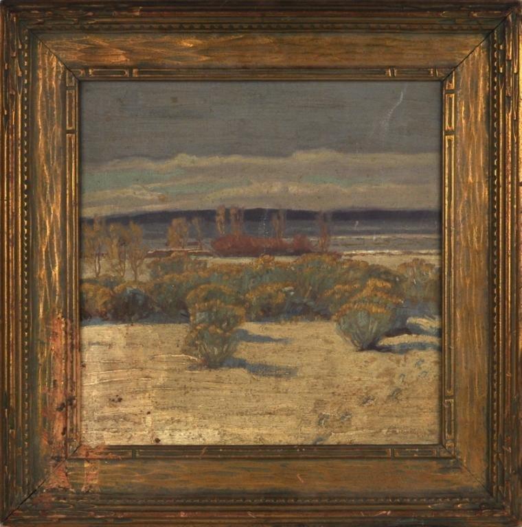 124: Ernest Hennings, Untitled (Western Desert Scene)
