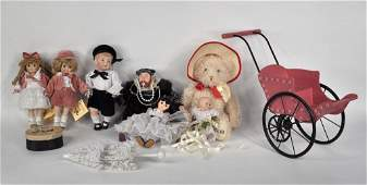 473: Group of Six Small Dolls, Accessories