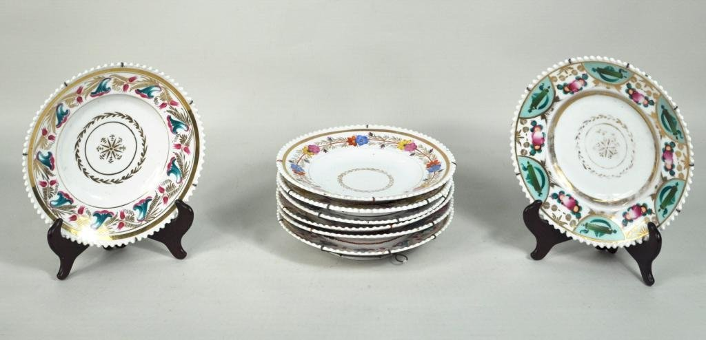 1: Group of Eight Russian Porcelain Dessert Plates