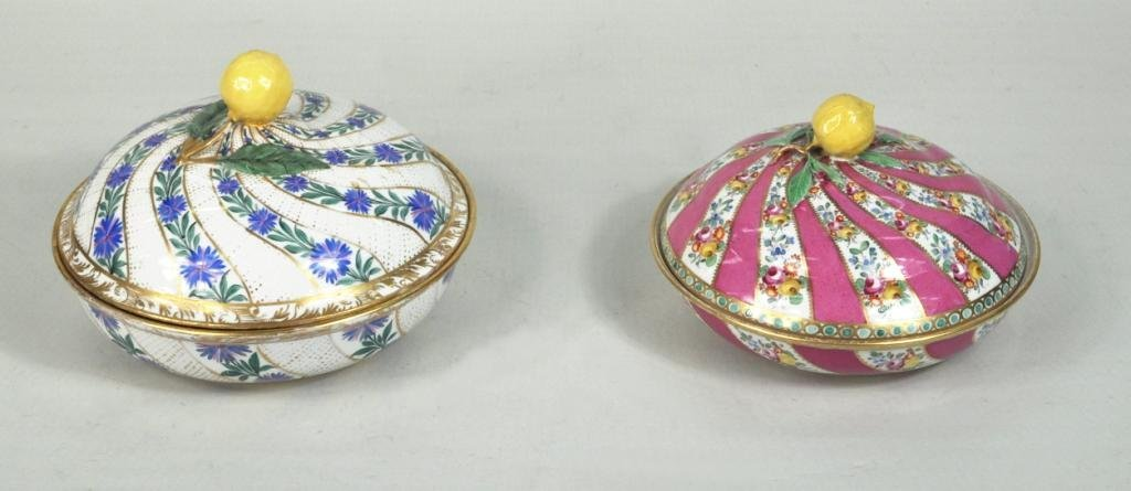 12: Two Meissen Porcelain Covered Bowls, 18th Century
