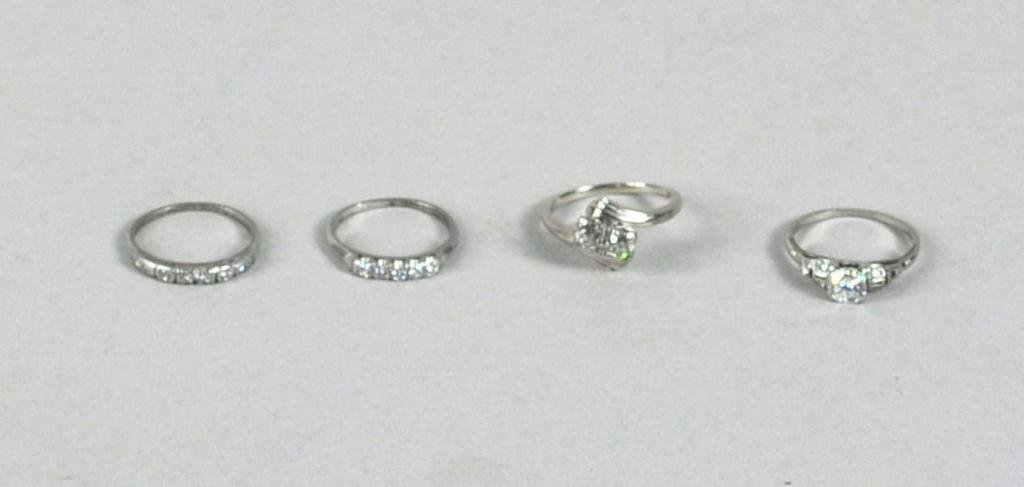 22: Group Four Ladies' Diamond Rings
