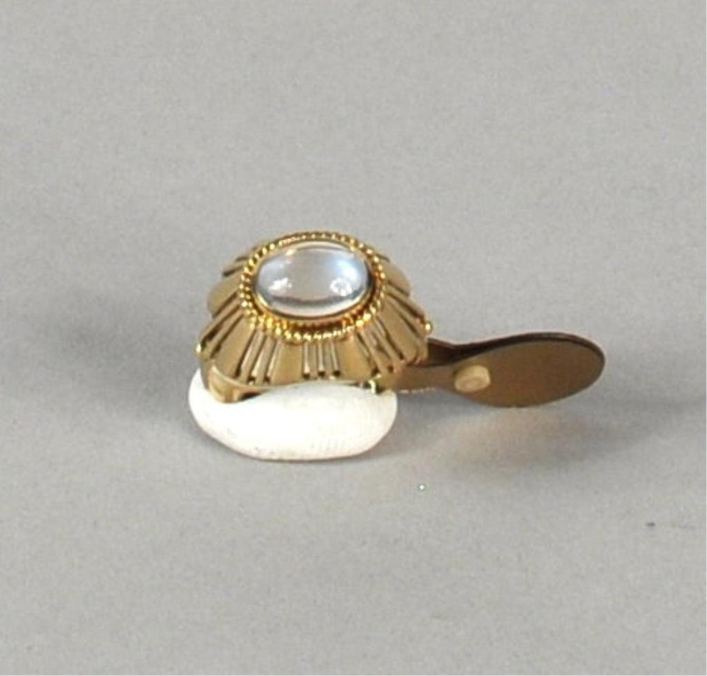 24: 18K Gold Moonstone Ring