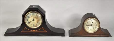 249 Two Vintage Mahogany Mantle Clocks
