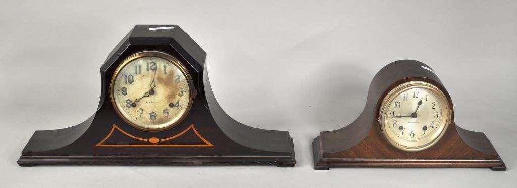 249: Two Vintage Mahogany Mantle Clocks