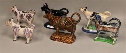 7 Six English Ceramic Cow Creamers
