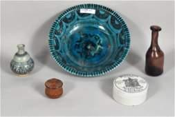 32 Decorative Arts Group Including Persian Bowl