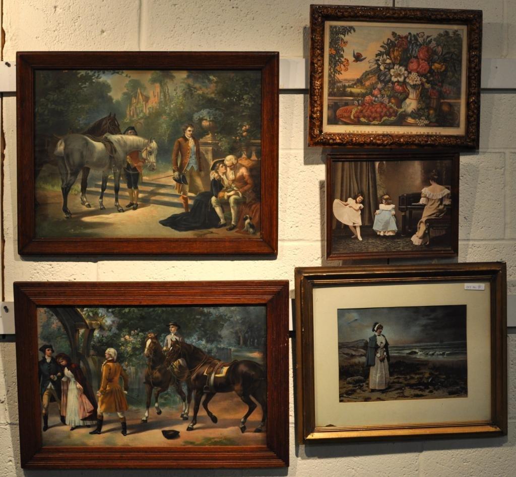 251: Group of Five Framed Artworks