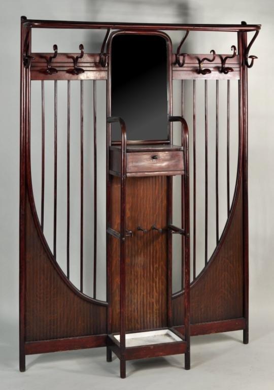 252: Thonet Bentwood Vestiere Hall Coat Rack 1904