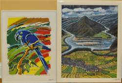 337 Two Framed Contemporary Artworks