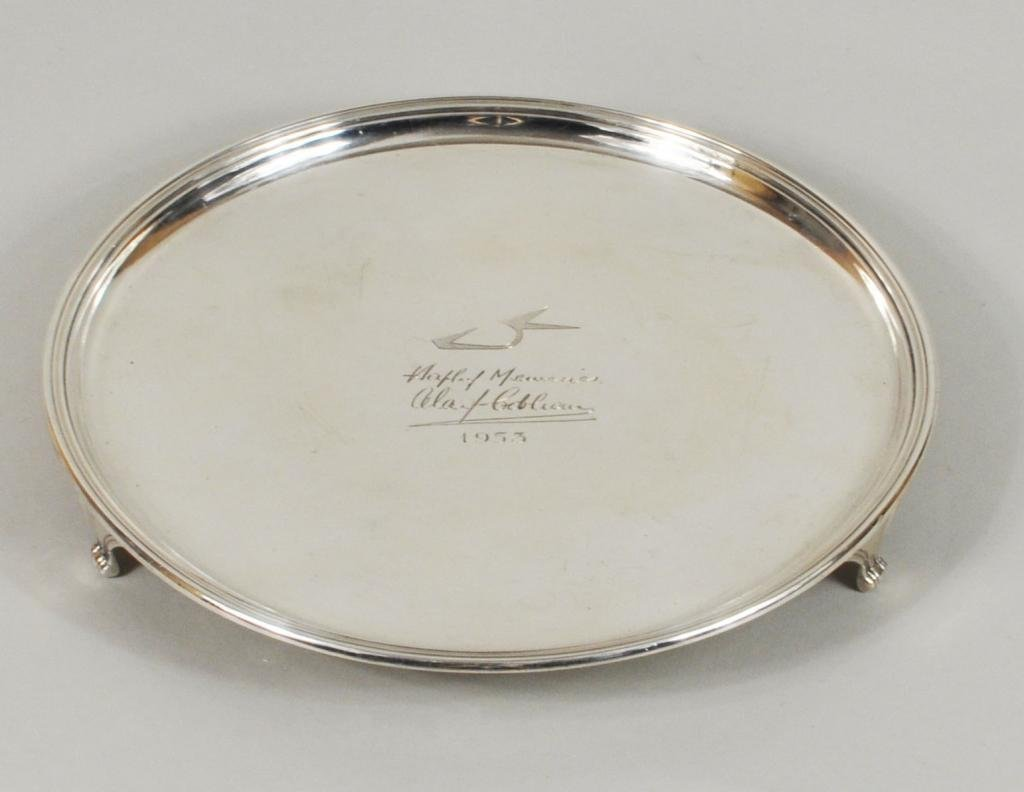 6: English Sterling Silver Footed Salver