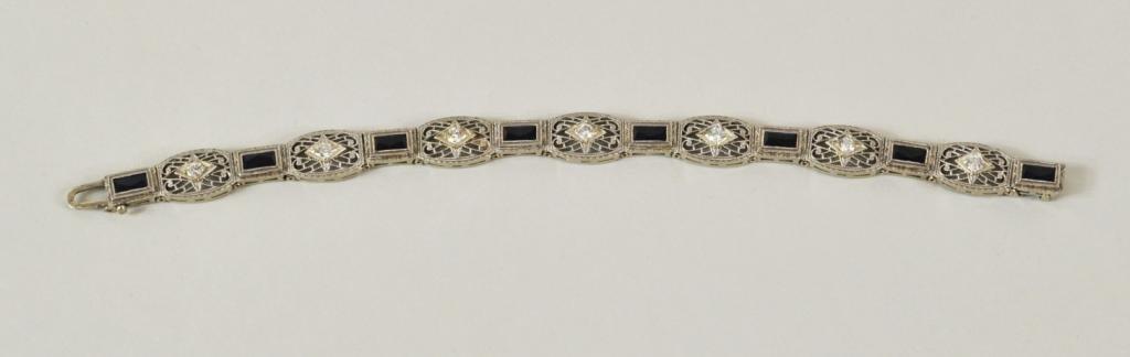 7: Platinum Topped 14K Gold, Diamond Bracelet