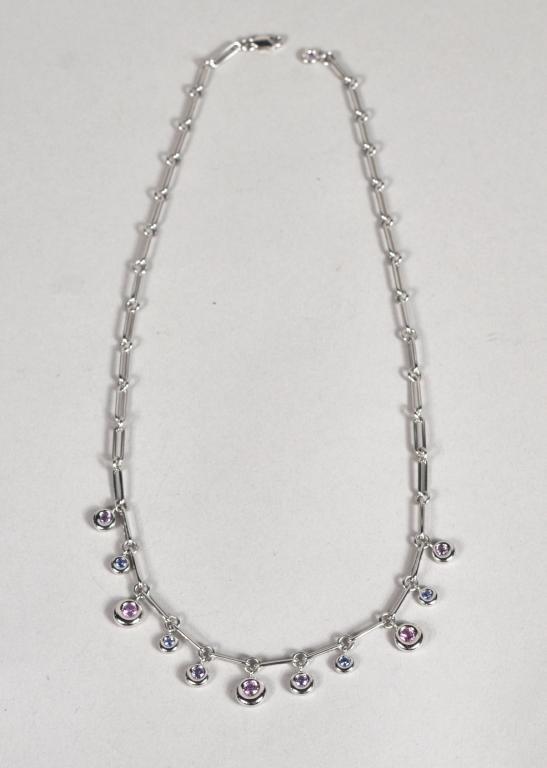 14: Chaumet Paris 18K White Gold & Sapphire Necklace