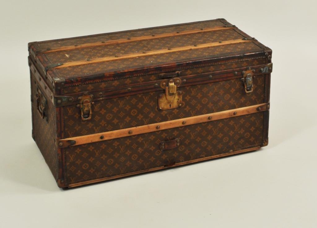 26: Vintage Louis Vuitton Small Steamer Trunk