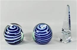 170: Group Three Glass Items