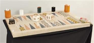 176 Monumental Marble Backgammon Board