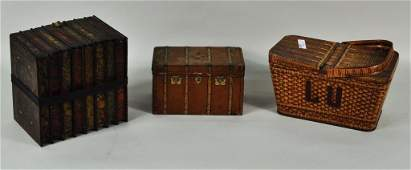 223 Group Three Lithographed Biscuit Tins