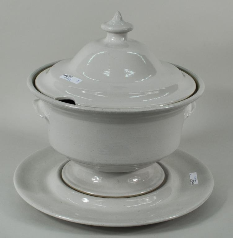 227: Stoneware Lidded Tureen and Underplate