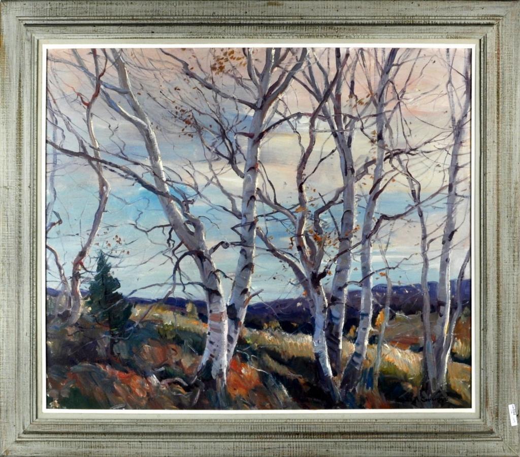 "380: E. Gruppe, ""Afternoon Light - Vermont"" Framed O/C"