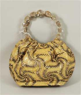 449 Vintage Kammi Reiss Patent Leather Handbag