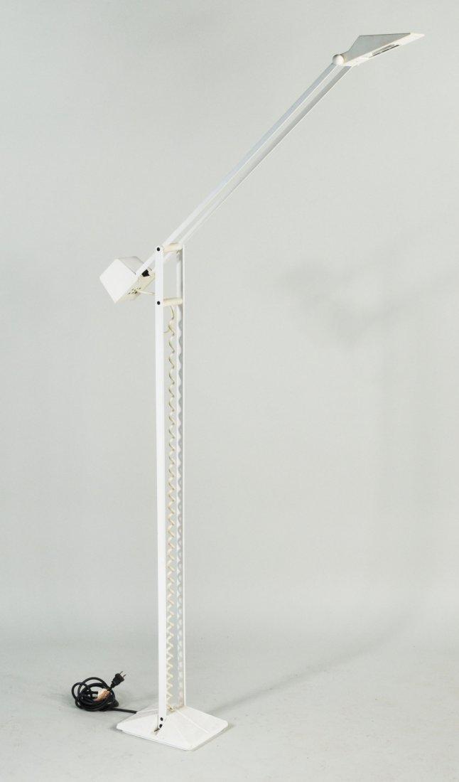 10: Modernist White Iron Counterweight Floor Lamp