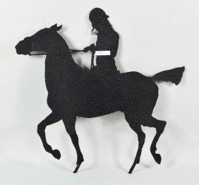 Sheet Iron Folk Art Horse And Rider