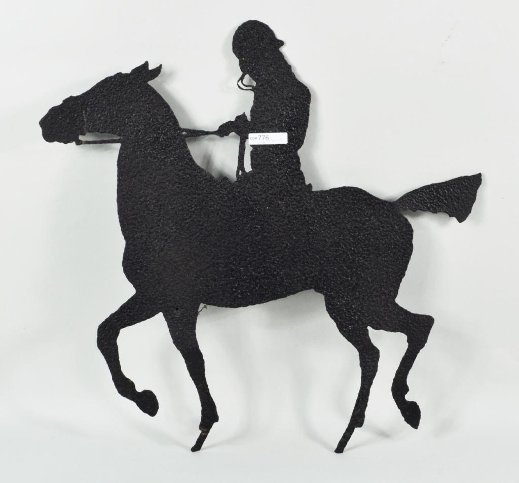 12: Sheet Iron Folk Art Horse and Rider