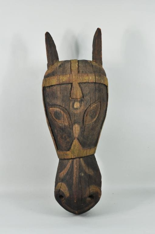 14: Indian Carved & Painted Horse Head