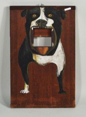 Folk Art Carnival Hand Painted Bulldog Toss Game