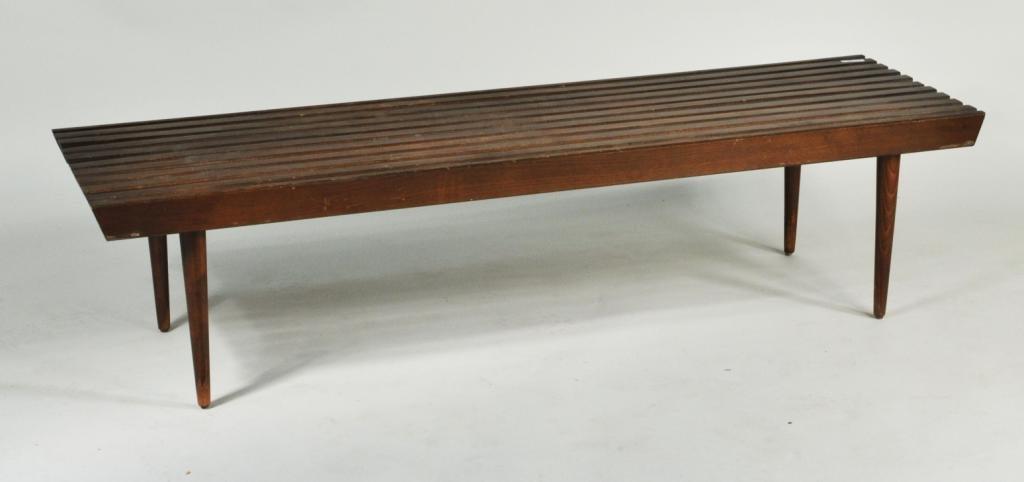 18: Danish Modern Slatted Bench