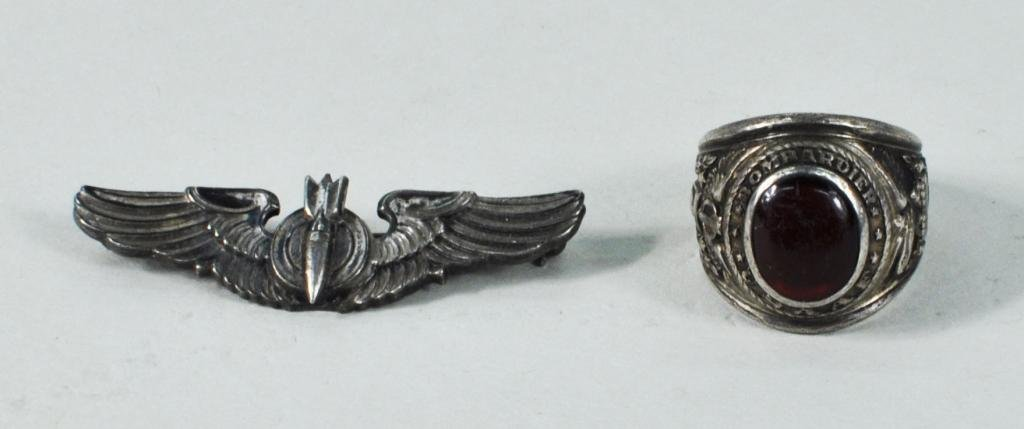 19: Two Sterling Silver Air Force Jewelry Items