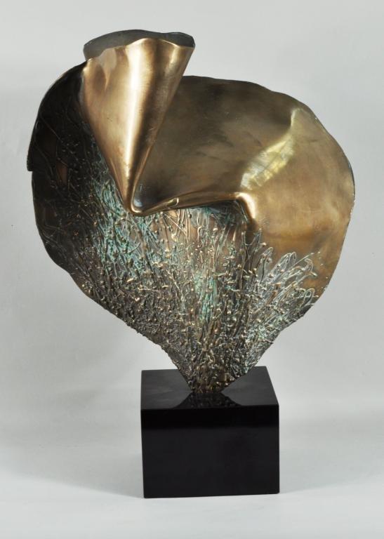 22: Rubino, Abstract Bronze Sculpture