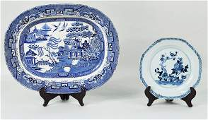 159: Chinese Export Blue & White Porcelain Plate