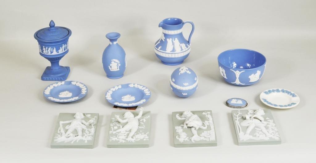 Group Wedgwood, Jasperware, Blue & White Porcelain