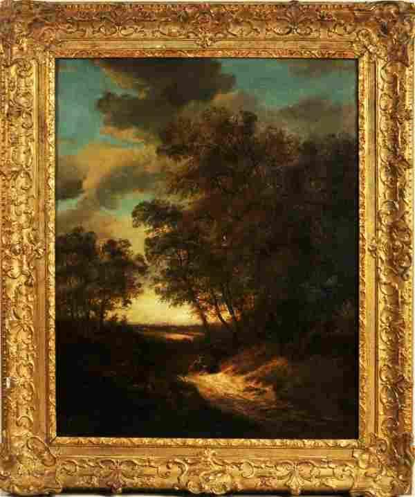 Henry Davis, Wooded River Landscape, O/C