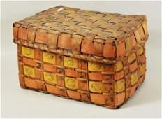 New England Woodlands Indian Splint Basket